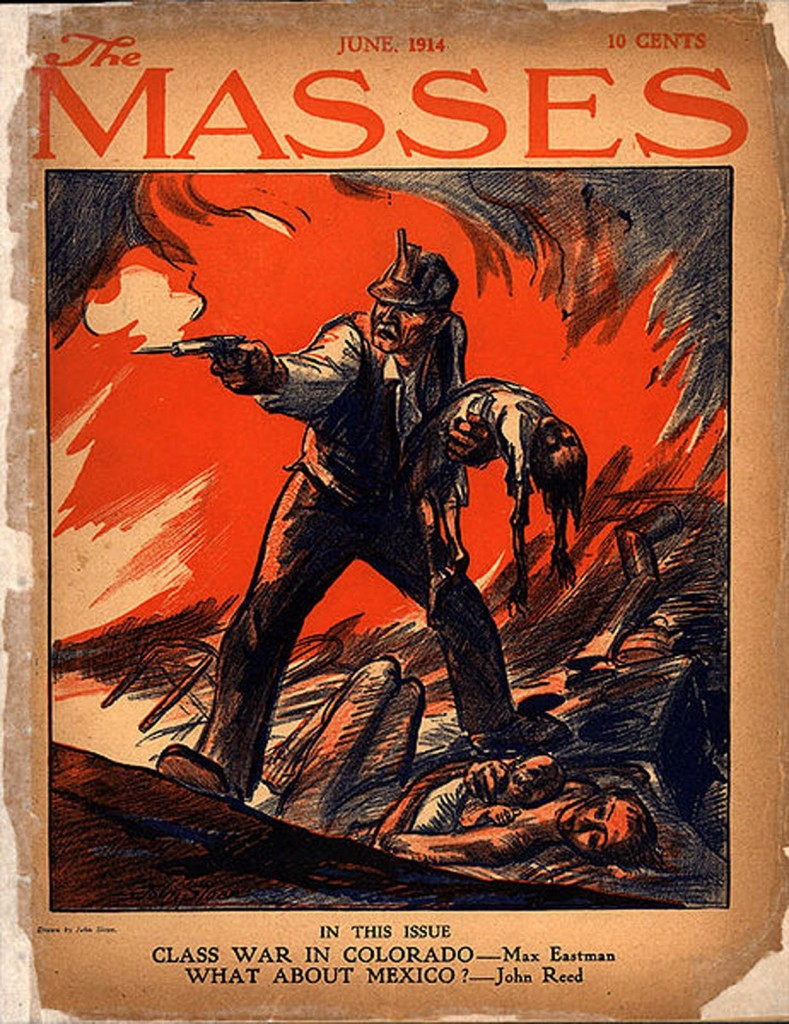 Sloan,+Masses+cover+depicting+Ludlow+Massacre+1914