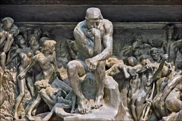 Ο σκεπτόμενος  στο The Gates of Hell στο Musée Rodin