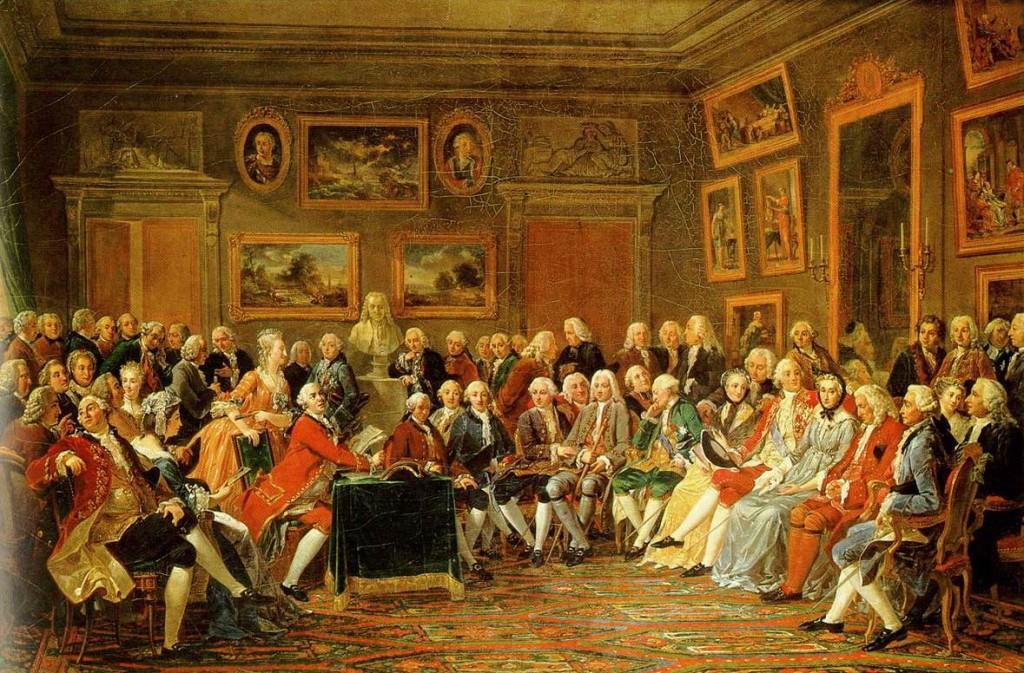 Συγκέντρωση στο σαλόνι της Μαντάμ Ζοφρέν, Gabriel Lemonnier