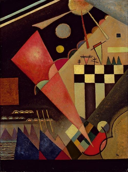 V.Kandinsky, Scharf Ruhiges rosa, 1924