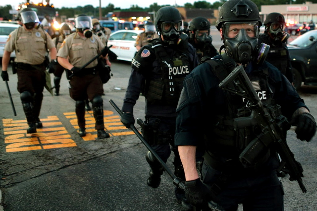Police Fire Tear Gas, Clear Streets in Ferguson