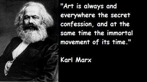 Karl Marx Qutoe on Art