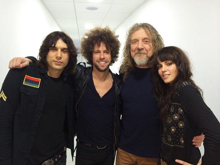 Από την κοινή πeριοδεία τους με τον Robert Plant.