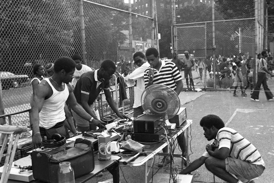 A classic rapper and DJ set at a Bronx a park, taken by legendary hip-hop photographer Henry Chalfant. (Photo Credit: http://henrychalfant.com)