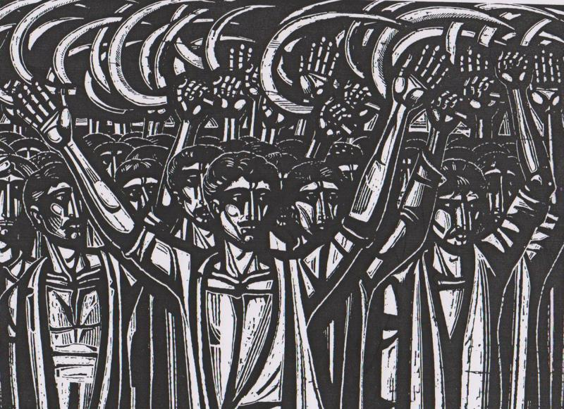 """Α. Τάσσος, """"Μαρίνος Αντύπας – Κιλελέρ 1910″ (χαρακτικό)"""
