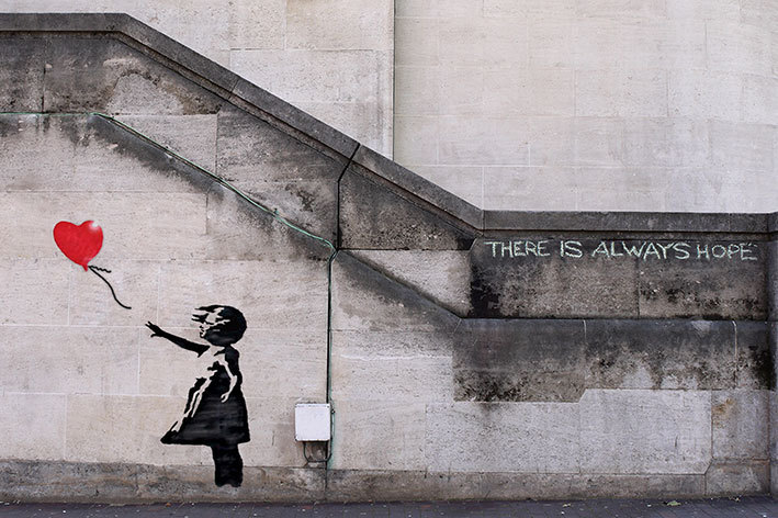 Banksy Balloon Girl There Is Always Hope