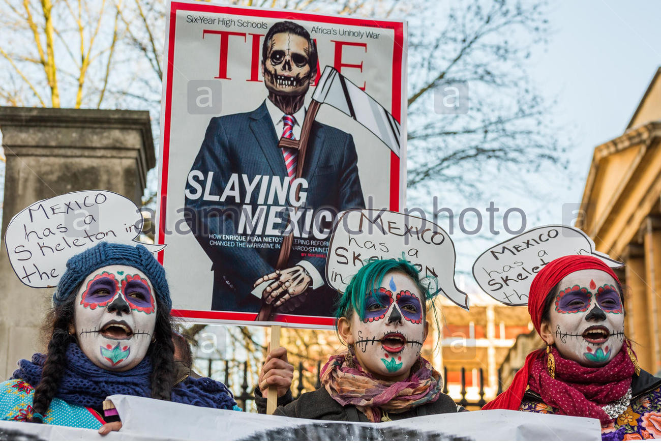 london-uk-3rd-march-2015-protest-at-mexican-president-pea-nieto-uk-EGX5BE