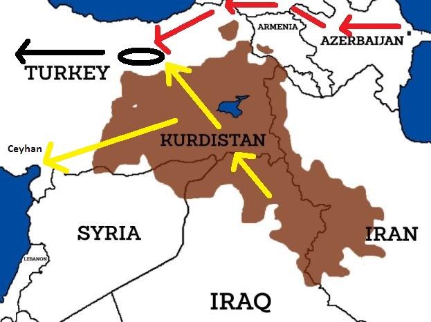 Αγωγοί από Κουρδιστάν και Αζερμπαιτζάν προς Τουρκία και Ευρώπη