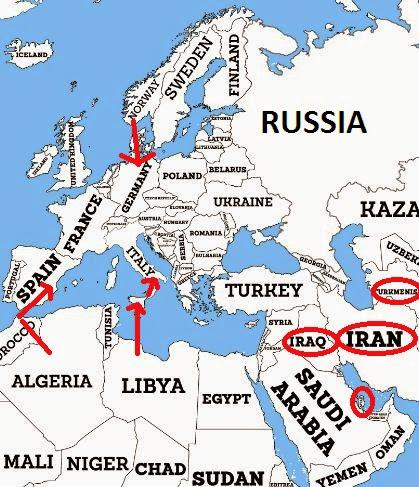 Ανταγωνιστικά Δίκτυα για τους Ρώσους, τους Άραβες και τους Ιρανούς (Νορβηγία, Αλγερία, Λιβύη)