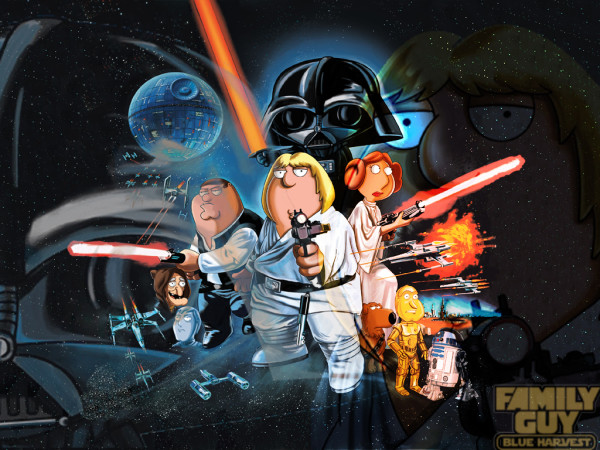 Family Guy Star Wars poster Blue Harvest