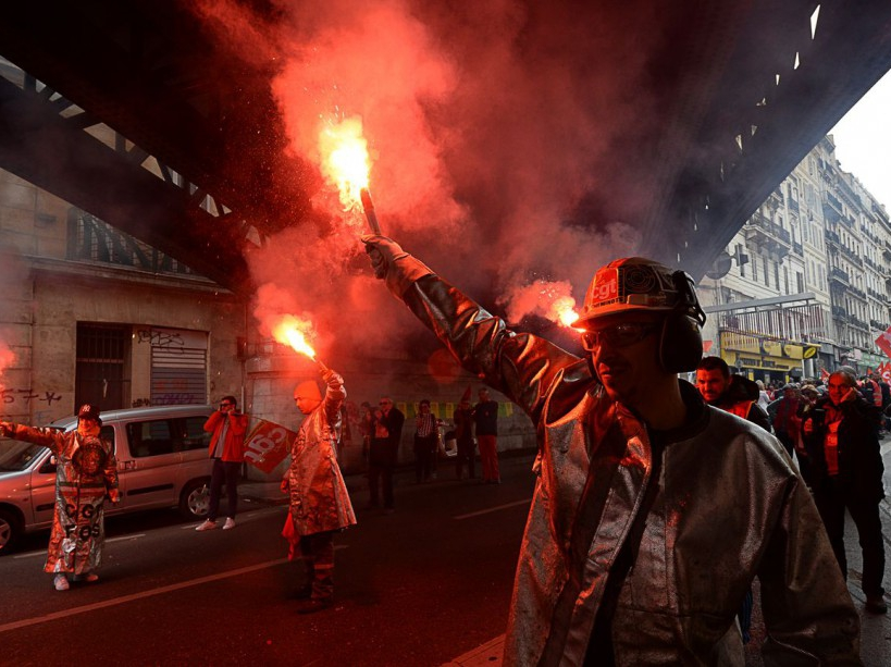 FRANCE-POLITICS-LABOUR-PROTEST