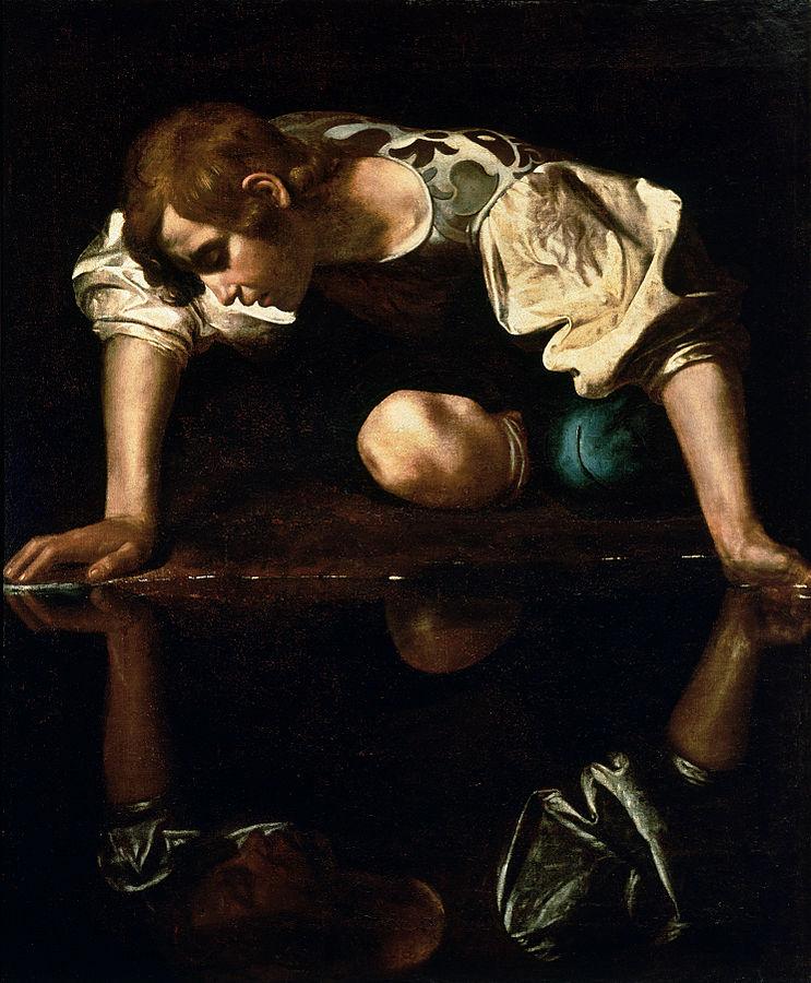 Narcissus-Caravaggio (1594-96)
