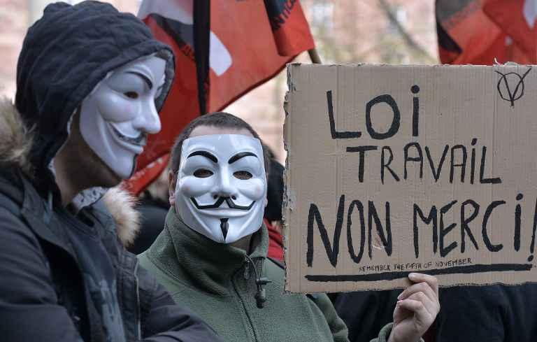 opposants-loi-travail-manifestent-strasbourg-9-mars-2016