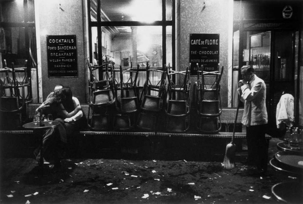 FRANCE. Paris. Cafe de Flore. 1958.