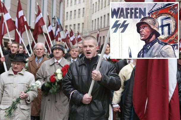 Λετονοί νοσταλγοί των ναζί παρελαύνουν ελεύθερα
