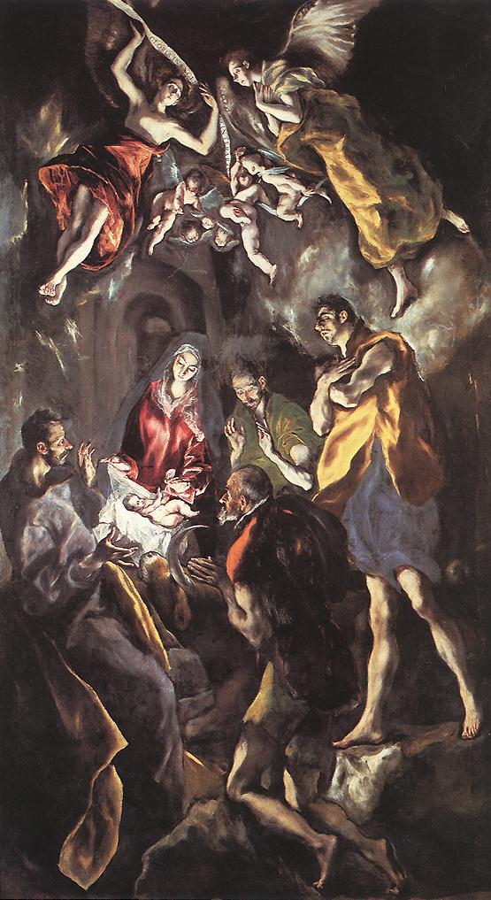 Η ΠΡΟΣΚΥΝΗΣΗ ΤΩΝ ΠΟΙΜΕΝΩΝ 1612-14 Ελαιογραφία σε μουσαμά 319Χ180εκ. Μαδρίτη, Πράδο