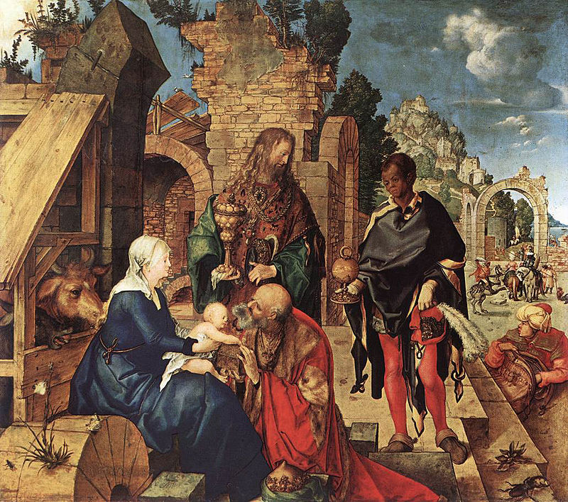 Η ΠΡΟΣΚΥΝΗΣΗ ΤΩΝ ΜΑΓΩΝ (1504), Ελαιογραφία σε ξύλο100Χ114 εκ, Φλωρεντία Ουφίτσι