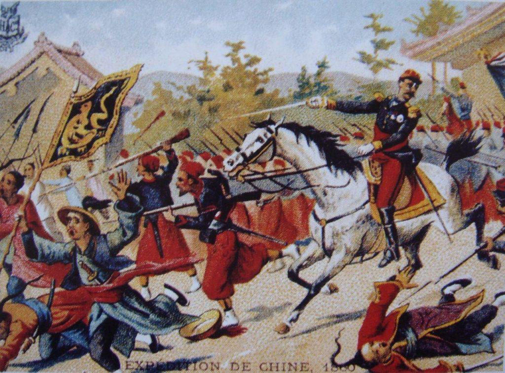 Γαλλικές δυνάμεις επελαύνουν εναντίον των Κινέζων στην εκστρατεία του 1860