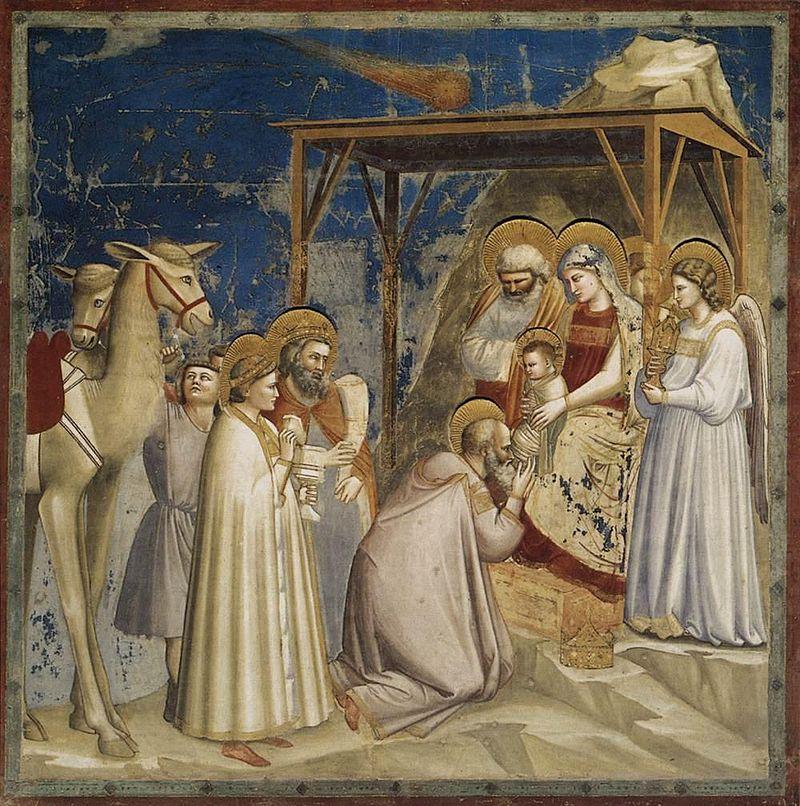 Η ΠΡΟΣΚΥΝΗΣΗ ΤΩΝ ΜΑΓΩΝ            1303-1304             Νωπογραφία 200Χ185εκ.             Πάδοβα, Παρεκκλήσιο Σκροβένι