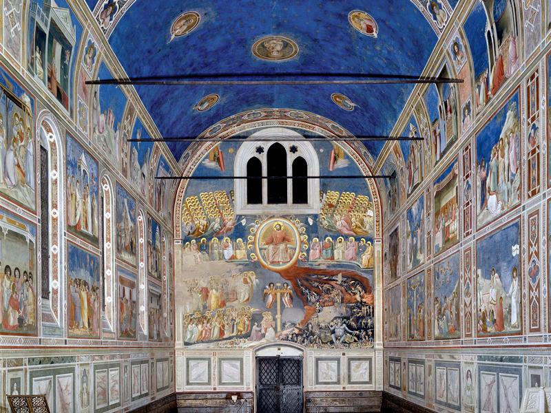 Η ΠΡΟΣΚΥΝΗΣΗ ΤΩΝ ΜΑΓΩΝ (1303-1304)           Νωπογραφία 200Χ185εκ.             Πάδοβα, Παρεκκλήσιο Σκροβένι