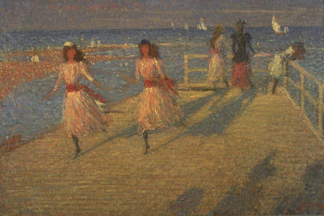 Girls Running, Walberswick Pier 1888-94 Philip Wilson Steer 1860-1942 Presented by Lady Augustus Daniel 1951 http://www.tate.org.uk/art/work/N06008