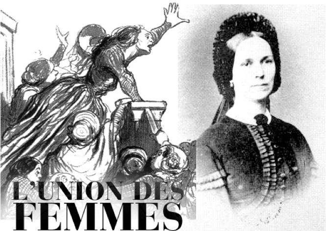 Η επονομαζόμενη André Léo, ενεργό μέλος του Union des femmes, η οποία ήδη από το 1866 είχε ιδρύσει τη φεμινιστική ομάδα Société pour la Revendication du Droit des Femmes