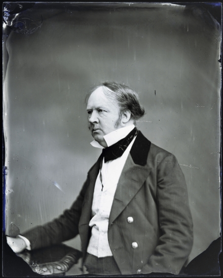 "Ivan Szabo, ""Portrait of W H F Talbot"" (1850), wet plate negative (courtesy Bodleian Libraries, University of Oxford)"