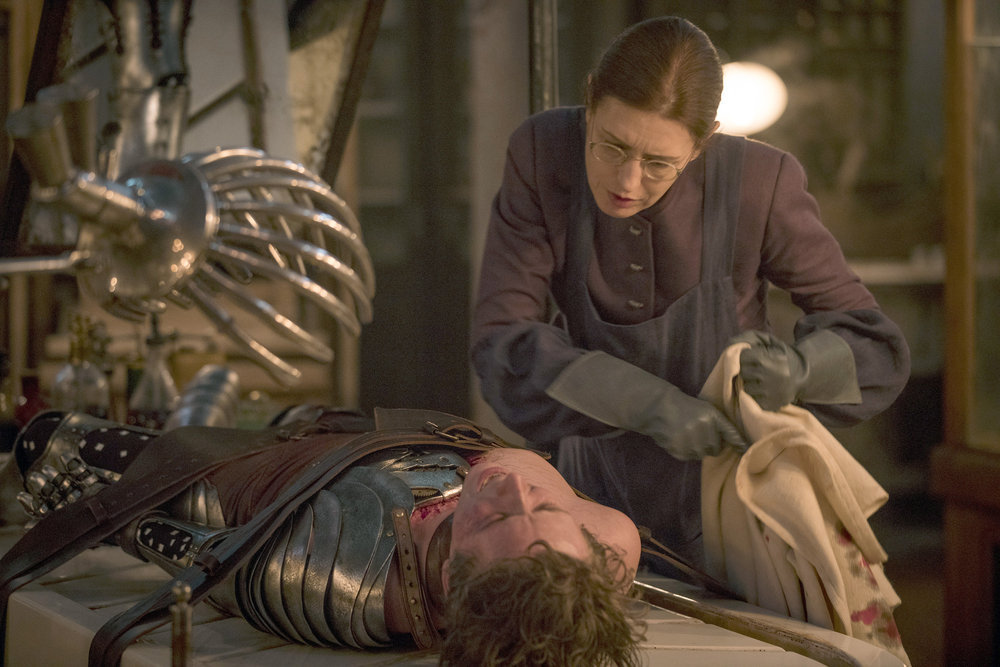 """EMERALD CITY -- """"Science and Magic"""" Episode 104 -- Pictured: (l-r) Gerran Howell as Jack, Gina Mckee as Jane -- width="""