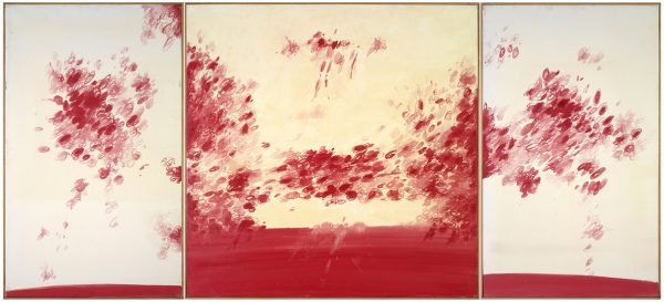 Dimitris Condos, Writing, Athens 1978, Oil on canvas, 220x100cm