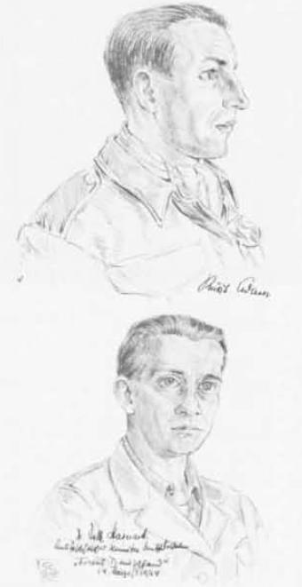 Γερμανοί της αντιφασιστικής επιτροπής στο Γ.Σ. του ΕΛΑΣ (αρχεία ΑΣΚΙ, σκίτσα του Δημήτρη Μεγαλίδη από «Το Λεύκωμα του Αγώνα, ΕΑΜ/ΕΛΑΣ 1941-1944», Αθήνα 1946, παρατίθεται στον συλλογικό τόμο Χρ. Χατζηιωσήφ (επιμ.), Ιστορία της Ελλάδας 20ού ΑΙΩΝΑ, τ. Γ2, εκδ. Βιβλιόραμα, Αθήνα 2007).