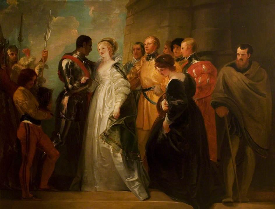 Stothard, Thomas; 'Othello', Act II, Scene 1, the Return of Othello; Royal Shakespeare Company Collection; http://www.artuk.org/artworks/othello-act-ii-scene-1-the-return-of-othello-54949